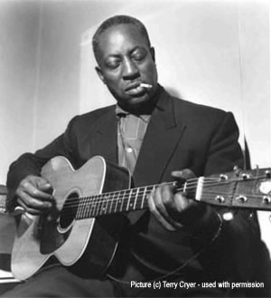 Prolific American blues singer, songwriter and guitarist Big Bill Broonzy